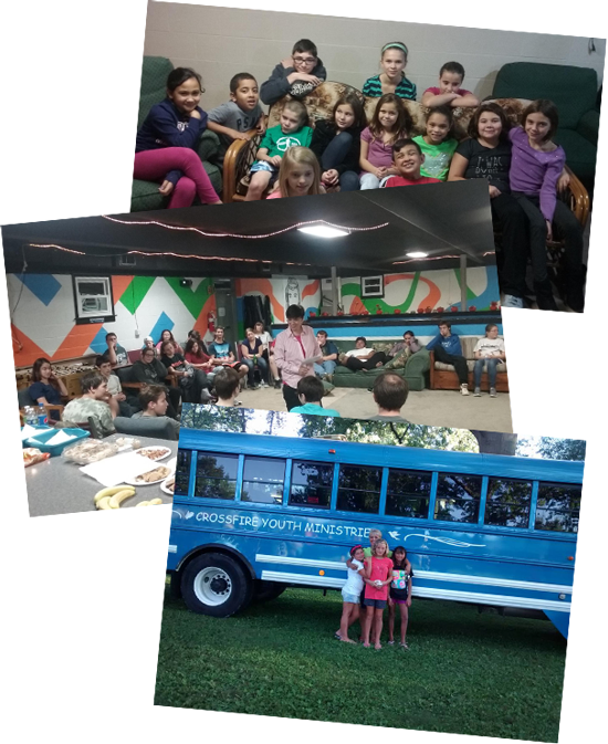 collage of images of Cross Fire Youth Ministries